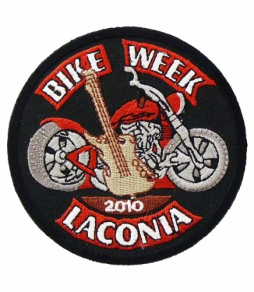 2010 Laconia Bike Week Guitar Motorcycle Patch