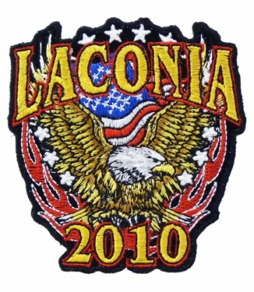 Laconia 2010 Motorcycle Week Patriotic Eagle Patch