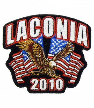 Laconia 2010 Motorcycle Week Eagle & Flags Patch