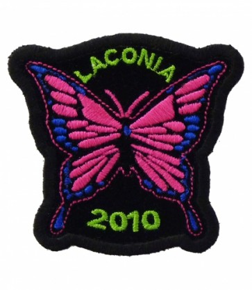 Laconia 2010 Motorcycle Week Pink Butterfly Patch