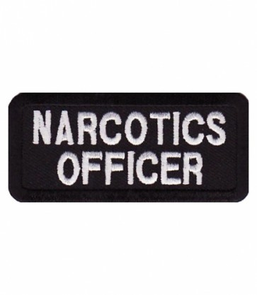 Narcotics Officer Patch, Law Enforcement Patches