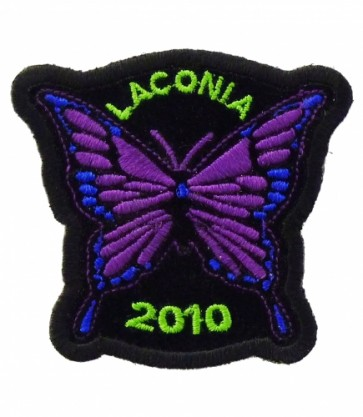 Laconia 2010 Motorcycle Week Purple Butterfly Patch