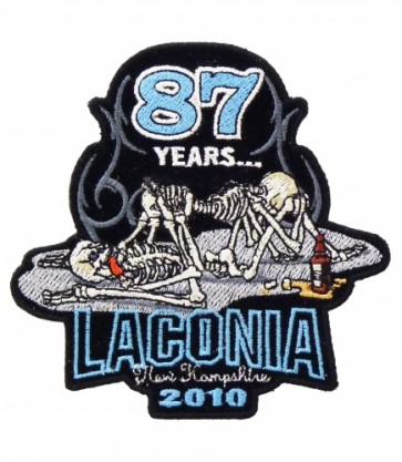 87th Annual 2010 Laconia 69 Skeleton Event Patch
