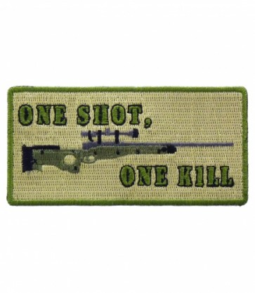 One Shot One Kill Sniper Patch, Military Sniper Patches