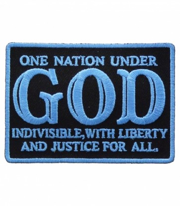 One Nation Under God Blue & Black Patch, Patriotic Patches