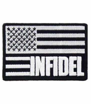 Infidel U.S. Flag Black & White Patch, U.S. Flag Patches