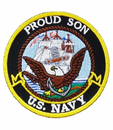 U.S. Navy Proud Son Patch, Military Patches