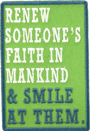 Renew Someone's Faith & Smile Patch, Uplifting Patches