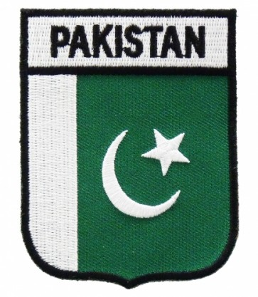 Pakistan Flag Shield Patch, Country Flag Patches