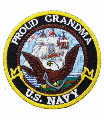U.S. Navy Proud Grandma Patch, Military Patches