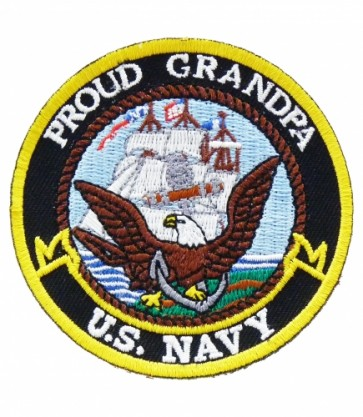 U.S. Navy Proud Grandpa Patch, Military Patches