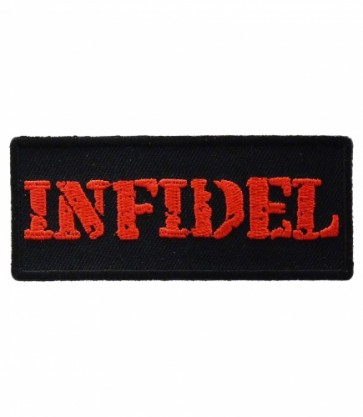Infidel Red & Black Patch, Military & Patriotic Patches