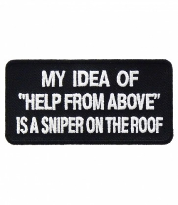 My Idea of Help From Above, Sniper Patch, Military Patches