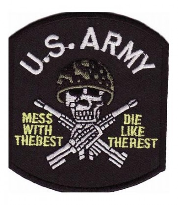 Army Mess With The Best Skull Patch, Military Patches