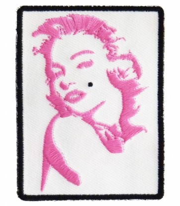 Marilyn Monroe Pink Silhouette Patch, Ladies Patches