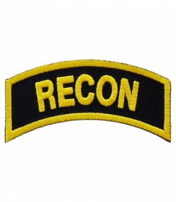 Recon Tab Rocker Patch, Military Uniform Patches
