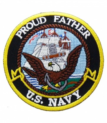 U.S. Navy Proud Father Patch, Military Patches