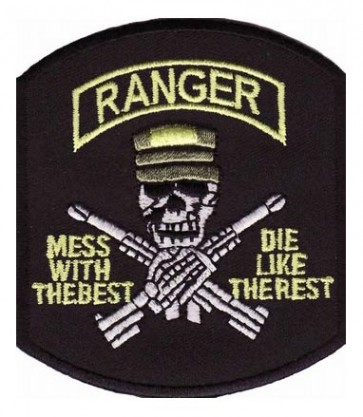 Ranger Mess With The Best Skull Patch, Military Patches
