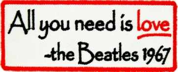 All You Need Is Love Beatles Patch, Inspirational Patches