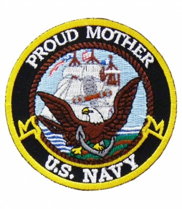 U.S. Navy Proud Mother Patch, Military Patches