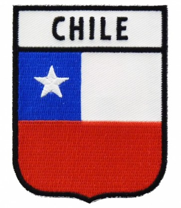 Chile Flag Shield Patch, South American Flag Patches