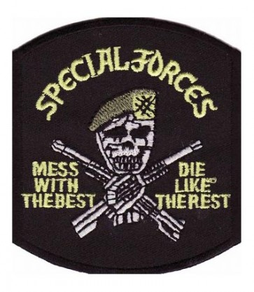 Special Forces Mess With The Best Skull Patch, Military Patches
