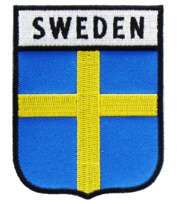 Sweden Flag Shield Patch, Country Flag Patches