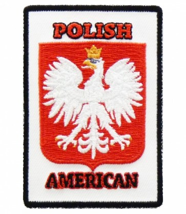 Polish-American Crest Patch, Polish Flag Patches