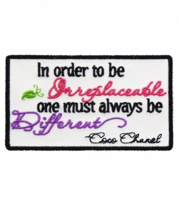 To Be Irreplaceable Be Different Patch, Ladies Patches