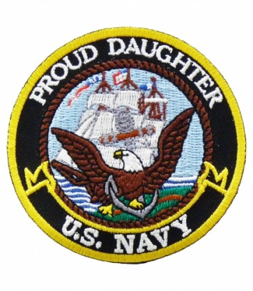 U.S. Navy Proud Daughter Patch, Military Patches