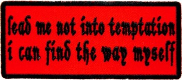 Lead Me Not Into Temptation Patch, Funny Patches