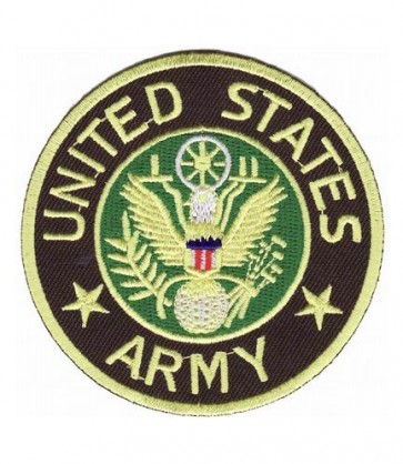 US Army Green & Tan Eagle Seal Patch, Army Patches