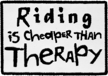 Riding Is Cheaper Than Therapy Patch, Biker Patches