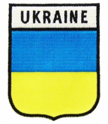 Ukraine Flag Shield Patch, Country Flag Patches