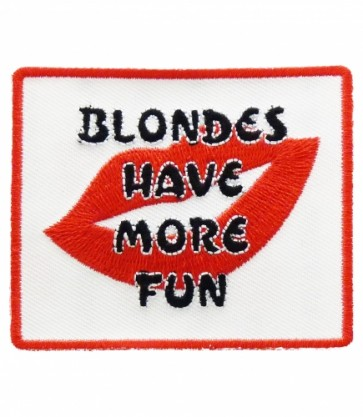 Blondes Have More Fun Red Lips Patch, Ladies Patches