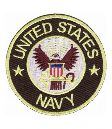 US Navy White & Tan Eagle Seal Patch, Navy Patches