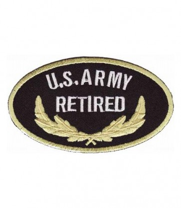 Army Retired Oval Patch, U.S. Army Patches