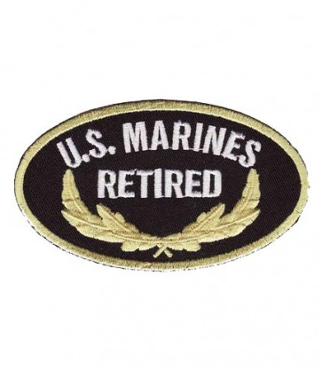 Marines Retired Oval Patch, U.S. Marine Corps Patches