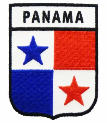 Panama Flag Shield Patch, Country Flag Patches