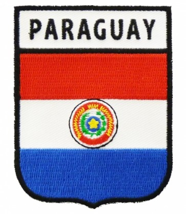 Paraguay Flag Shield Patch, South American Flag Patches