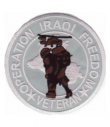 Iraqi Freedom Vet Soldier Patch, Iraq Veteran Patches