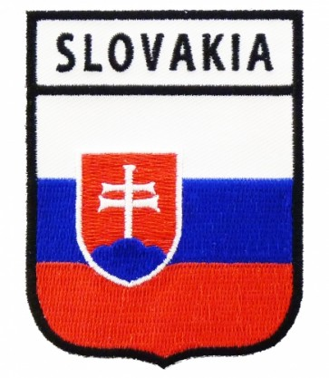 Slovakia Flag Shield Patch, Country Flag Patches