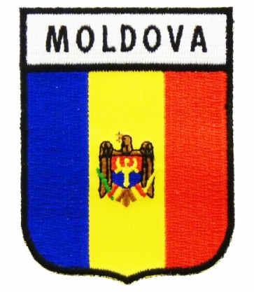Moldova Flag Shield Patch, Country Flag Patches
