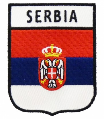 Serbia Flag Shield Patch | Country Flag Patches