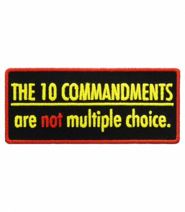 10 Commandments Patch, Christian Sayings Patches