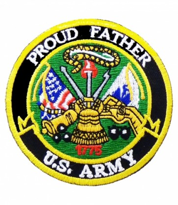 U.S. Army Proud Father Patch, Military Patches