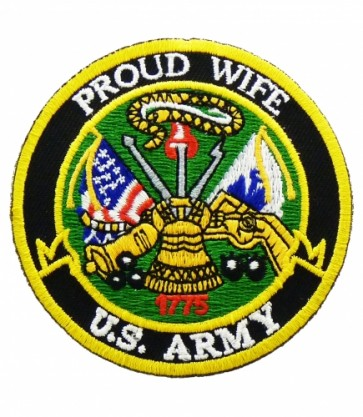 U.S. Army Proud Wife Patch, Military Patches