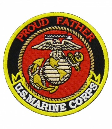 U.S. Marine Corps Proud Father Patch, Military Patches