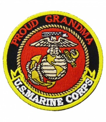 U.S. Marine Corps Proud Grandma Patch, Military Patches