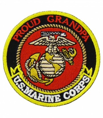 U.S. Marine Corps Proud Grandpa Patch, Military Patches
